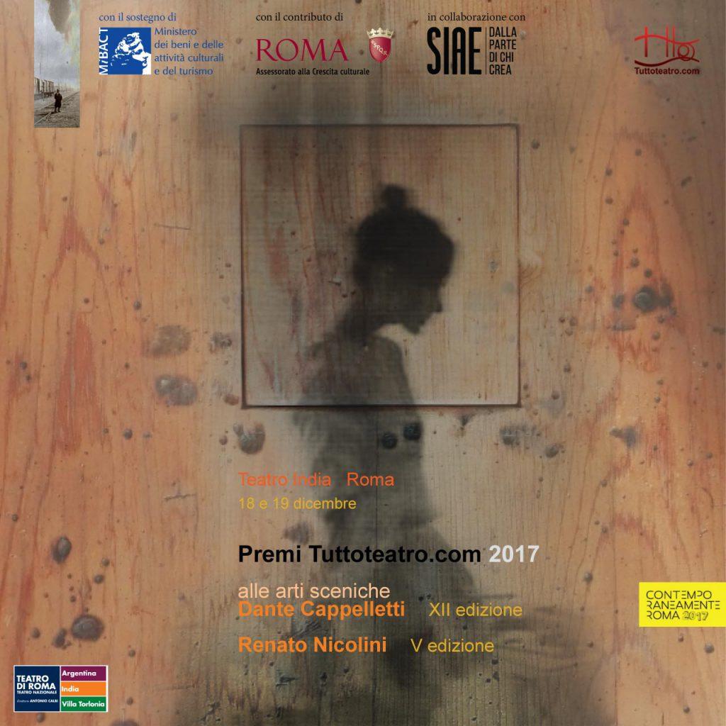 Premi Tuttoteatro.com Dante Cappelletti XII Edizione Renato Nicolini V Edizione
