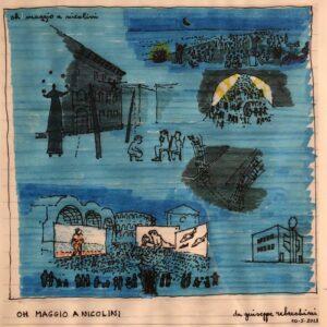 Oh Maggio a Nicolini di Giuseppe Rebecchini. Per gentile concessione di Marta Calzolaretti